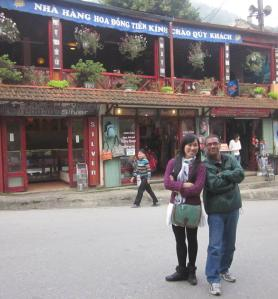 Tomy and Richard in Sapa town.