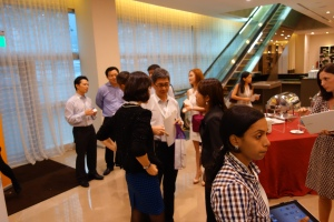 Participants stayed on after the event, wanting to find out more about SAP HANA.