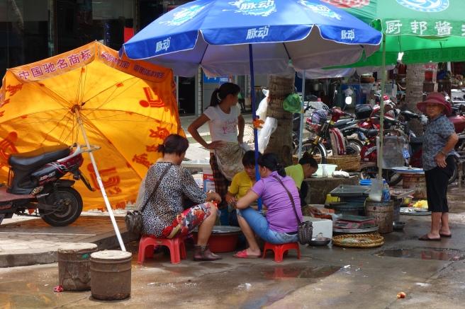 Hawkers in Changmao Garden ( 昌茂花园街边小贩的景象 ), 27.07.2014