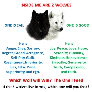 Inside me are 2 wolves, which will win?