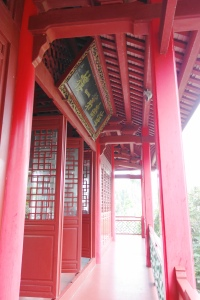 On the second floor of the Five Lords Ancestral Hall (五公祠)