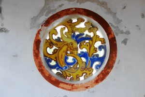 A carving on the wall of the second floor of the Five Lords Ancestral Hall (五公祠).