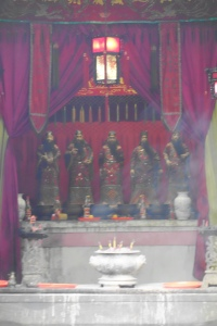 Statues of the Five Officials inside the temple