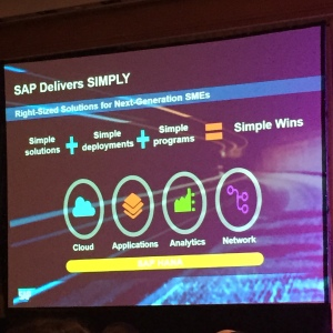 Simple is going to be the next buzzword, apart from HANA.