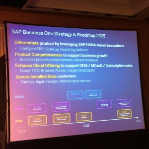 SAP Business One Strategy & Roadmap 2015