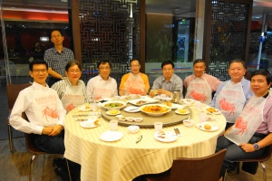 Gintic colleagues get-together over dinner on 27 July 2015 at Long Beach Seafood.
