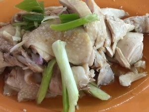 Smooth tenderly white chicken